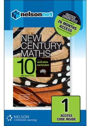 New Century Maths: 10 Stages 5.1/5.2  - NelsonNet Only [1 Access Code Card]