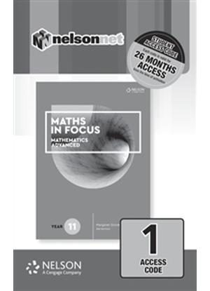 Maths in Focus:   Mathematics Advanced - Year 11 - NelsonNet Only [Registration Card]
