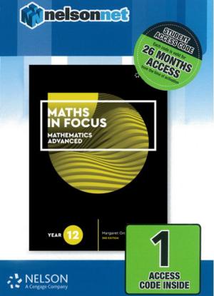 Maths in Focus:   Mathematics Advanced - Year 12  [NelsonNet Only]