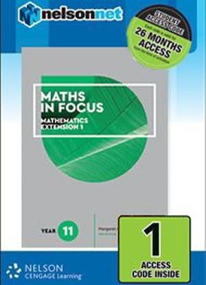 Maths in Focus:   Mathematics Extension 1 - Year 11 [NelsonNet Only]