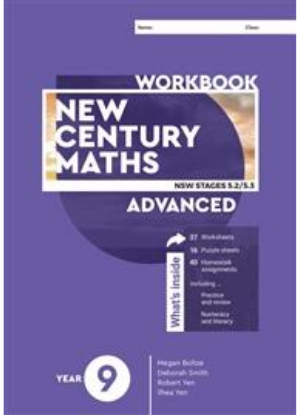 New Century Maths:  9 Advanced Stages 5.2/5.3  [Workbook]