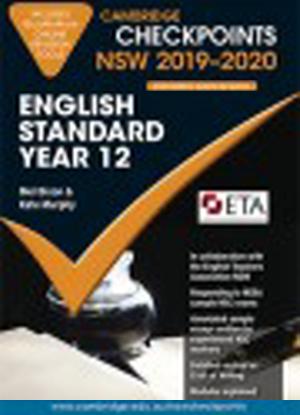 Cambridge Checkpoints:  NSW English Standard - Year 12  (2019-2020)