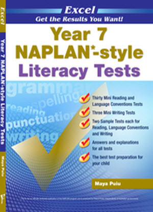 Excel Naplan* Style Literacy Tests: Year 7