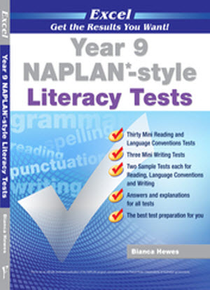 Excel Naplan* Style Literacy Tests: Year 9