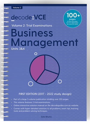 Decode VCE Business Management Units 3&4 Volume 2 Trial Examinations
