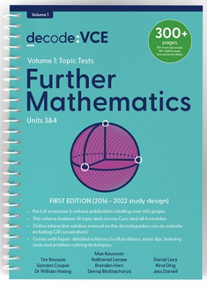 Decode-VCE-Further-Mathematics-Units-3and4-Volume-1-Topic-Tests-9781922445148